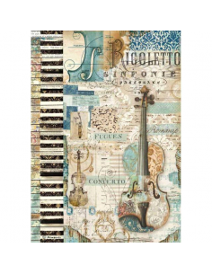 Papel Arroz Musica Violin A4