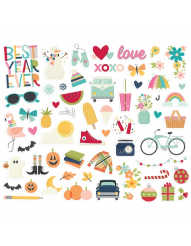 Simple Stories Best Year Ever Bits&Piece
