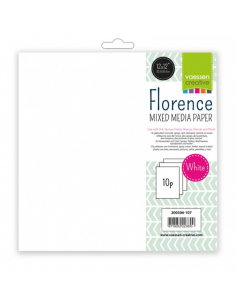 Florence papel mixed media 12x12 10 hoja