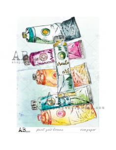 AB Studio TandiArt rice paper Paint your