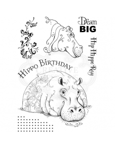 Pink Ink Desings Hippo Birthday A5